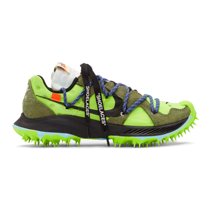 Nike Green Off-White Edition Zoom Terra Kiger 5 Sneakers